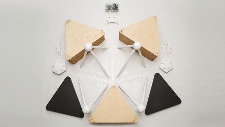 En unik geometrisk kapselstol för modern inredning.
