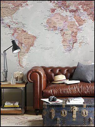 Världsresorinspirerad dekor    Interiör inspiration vardagsrum.