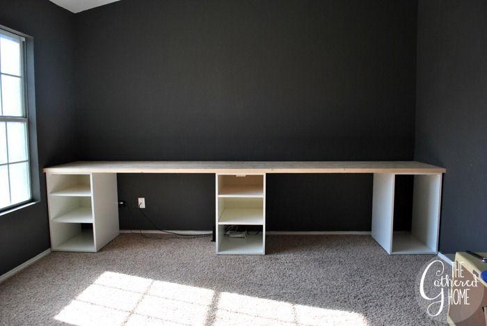 Hur man gör en DIY Plank Top Ikea Cabinet Desk  Ikea skrivbordshack.