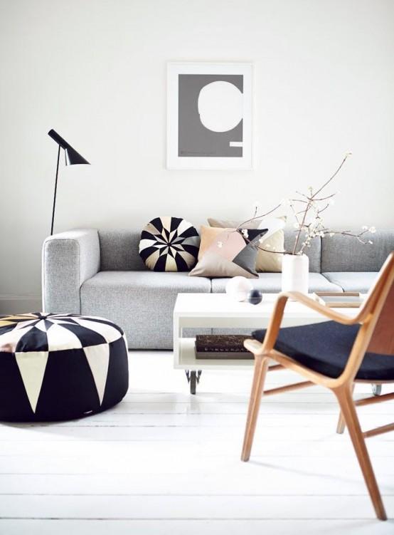 32 Snygga geometriska inredningsidéer till ditt vardagsrum - DigsDi