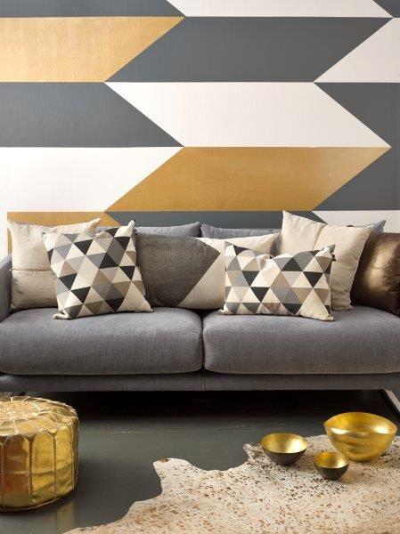 32 Snygga geometriska inredningsidéer för ditt vardagsrum |  Украшения.