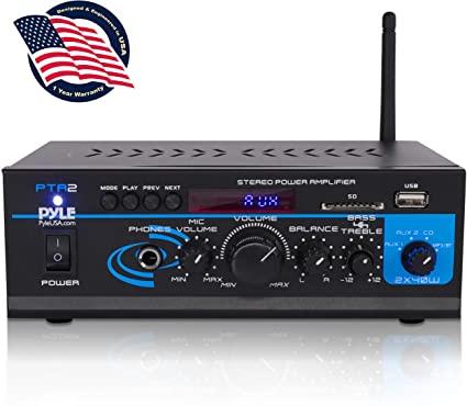 Amazon.com: Home Audio Power Amplifier System - 2X40W Mini Dual.