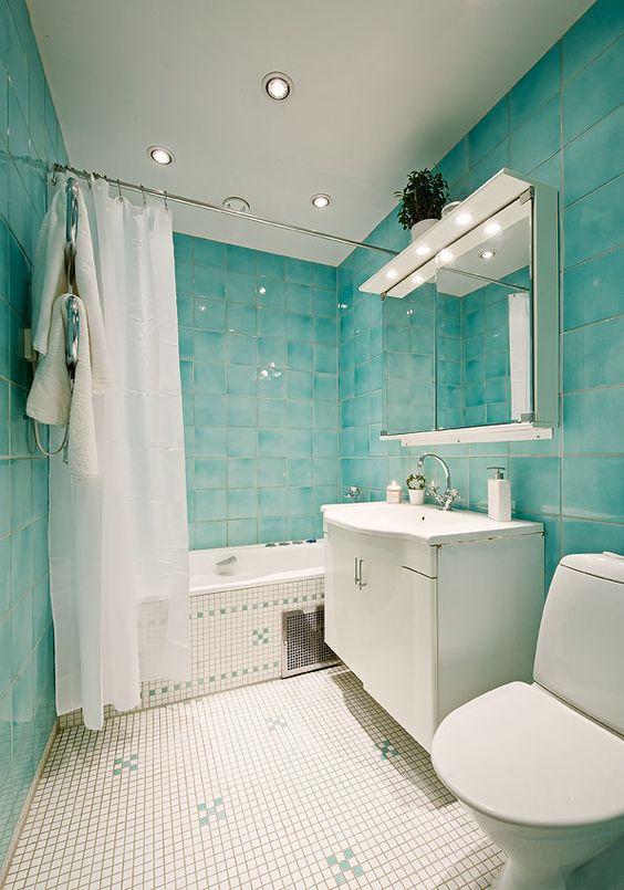 25 underbara turkosa badrumsinredningsidéer - DigsDi