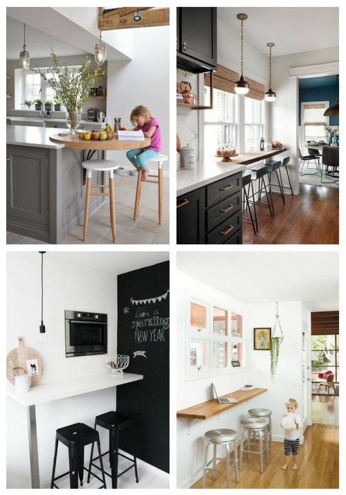 25 Idéer för frukostbaren för små kök |  ComfyDwelling.c