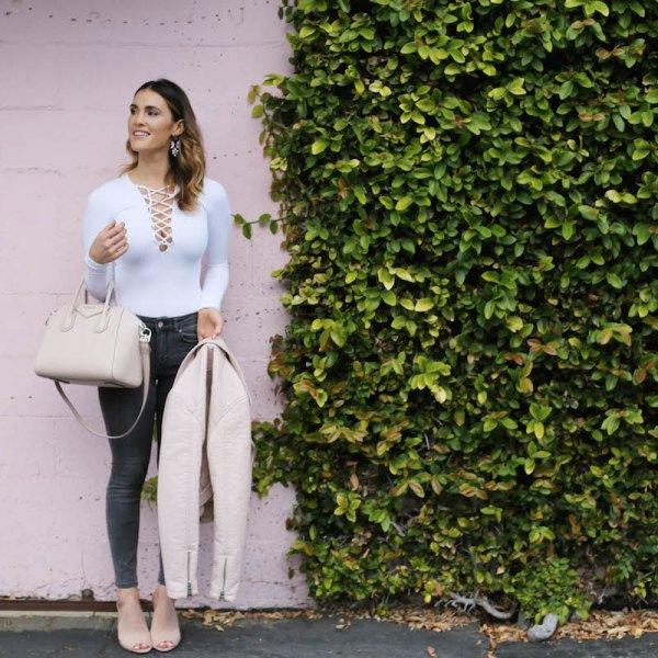 vita skinny jeans med smal passform