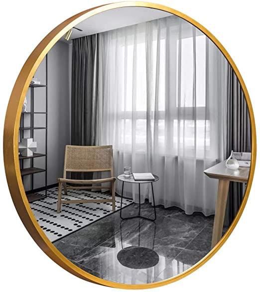 "Amazon.com: Trvone Round Mirror 32 ""Large Wall Mirror 1.6"" Djup."