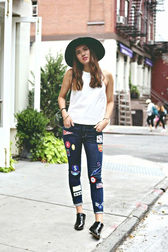 lappade jeans fedora