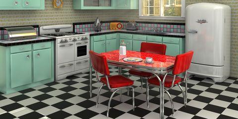 25 coola retrokök - Hur man dekorerar ett kök i Throwback Sty