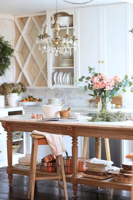 En charmig vintageinspirerad köksö |  Lantligt kök.