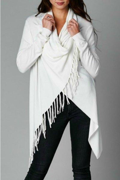 vit wrap svart skinny jeans