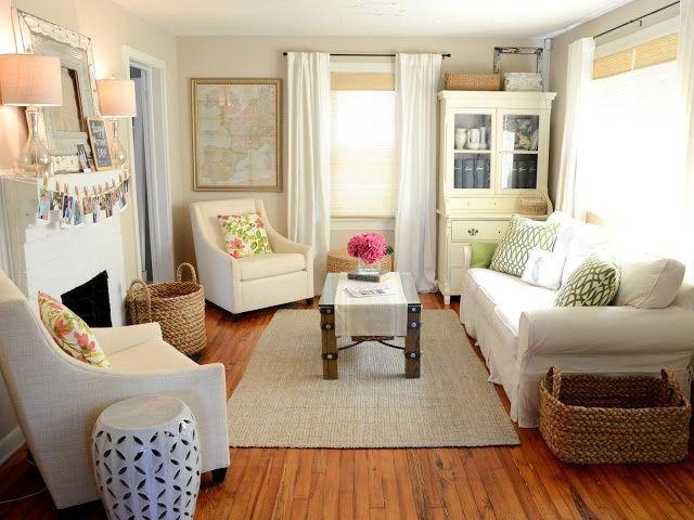 5 tips för små utrymmen: vardagsrum.  Litet vardagsrum.
