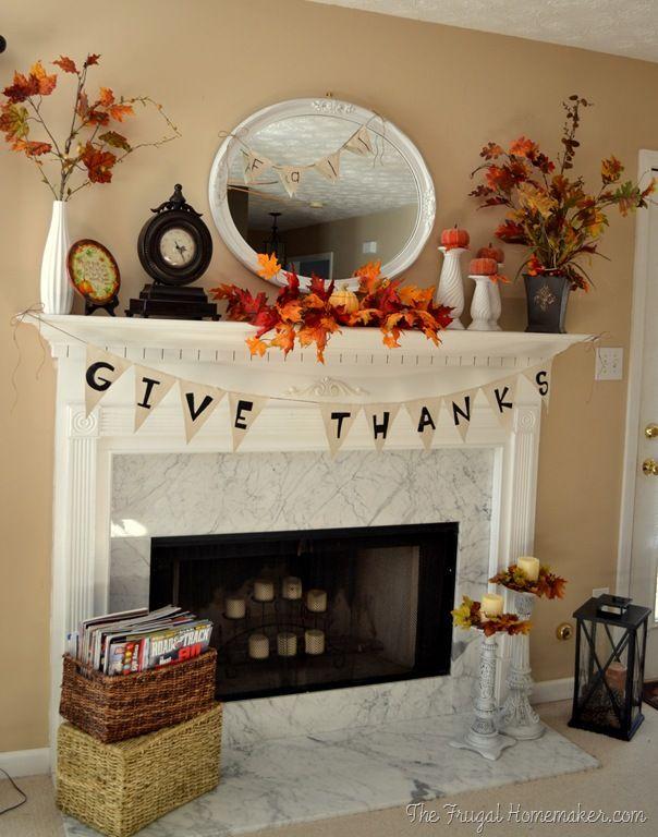 12 sätt att dekorera en Thanksgiving Mantel Du kommer att vara tacksam F