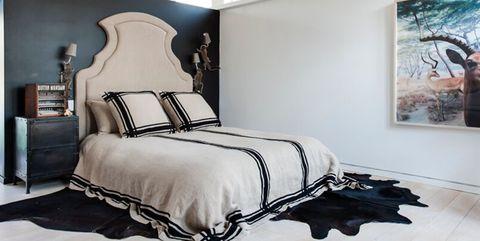 36 svartvita sovrum - foton och idéer för sovrum med.
