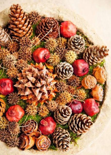47 mysiga pinecone centerpieces för höst och tacksägelse - DigsDi