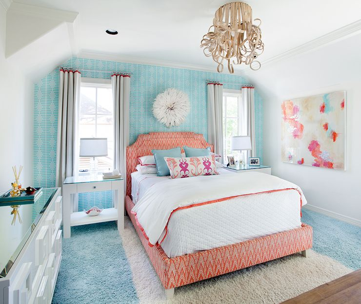 Samtida - flickrum - Tracy Hardenburg Designs |  Blå rum.