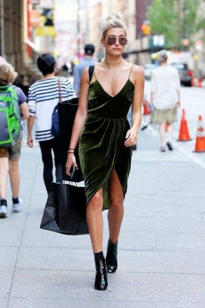 Burgundy Velvet High Low Slip Dress