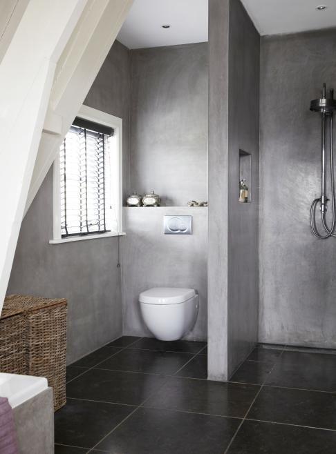 37 snygga sätt att använda betong i ditt badrum |  Прачечная в.