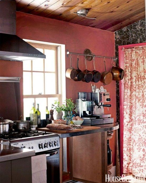 Marsala för kök och matsal: 28 designidéer |  Röd.