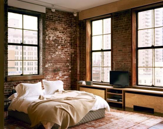 75 imponerande sovrum med tegelväggar - DigsDi