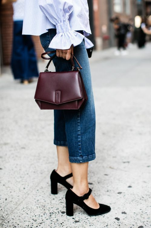 Mocka klackar svart vintage skor