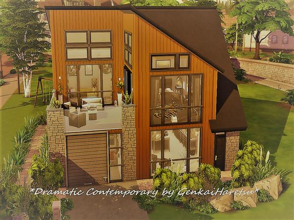 Dramatiskt samtida hus av GenkaiHaretsu vid TSR »Sims 4 Updat
