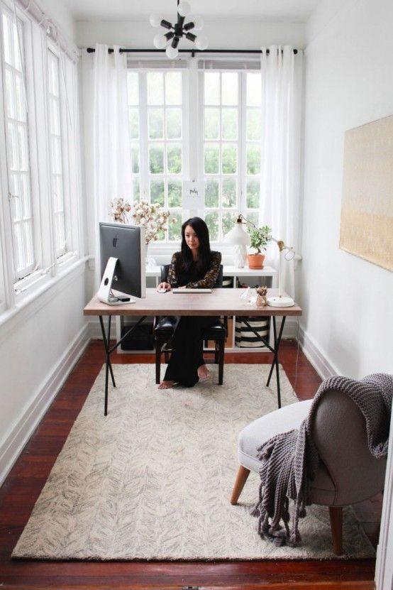 46 Smarta och kreativa små solrumsdekorationer    Billigt kontor.