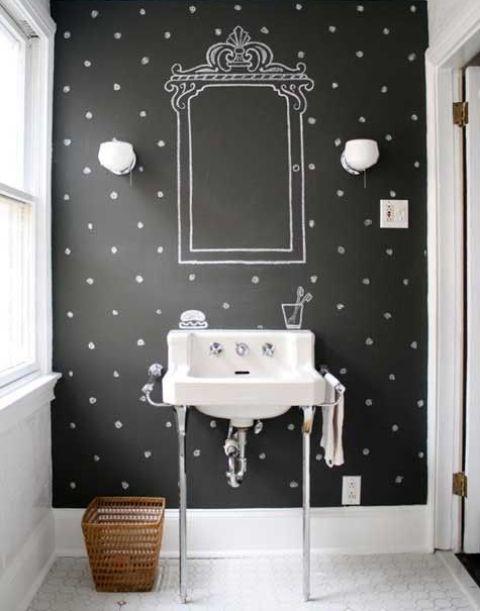 21 Idéer för inredning av svarta tavlor i badrum - DigsDi