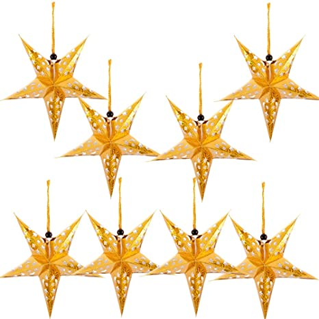 Paper Star Lantern Lampshade Hanging Christmas Xmas Day Decoration.
