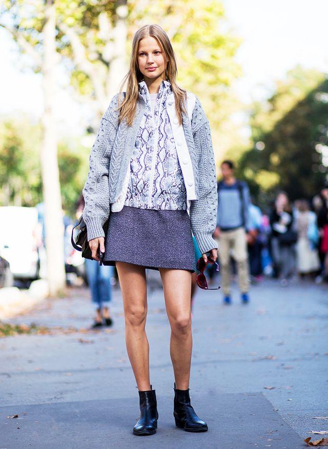 Tweed kjol en linje