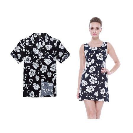 Mini shift-klänning med blommönster i svart och vitt