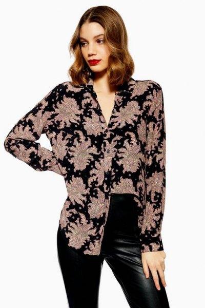 svart och rodnad skjorta med läder gamacher