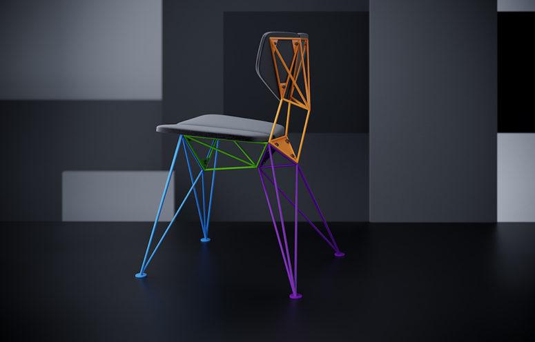 Färgglad geometrisk stjärnstol för ett uttalande - DigsDi