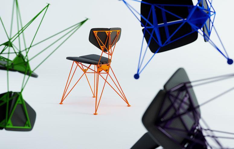 Färgrik geometrisk stjärnstol för ett uttalande - DigsDi