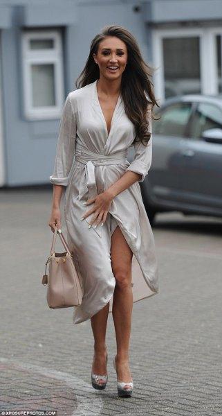 Midja klänning toffel i silver
