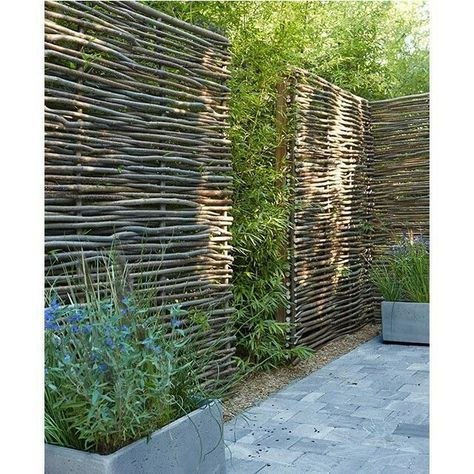Terrasse, panneaux végétaux 2020    Trädgårdens sekretessskärm.