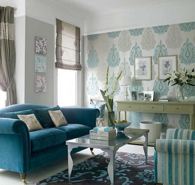 22 idéer att använda turkosblå färg för modern inredning.