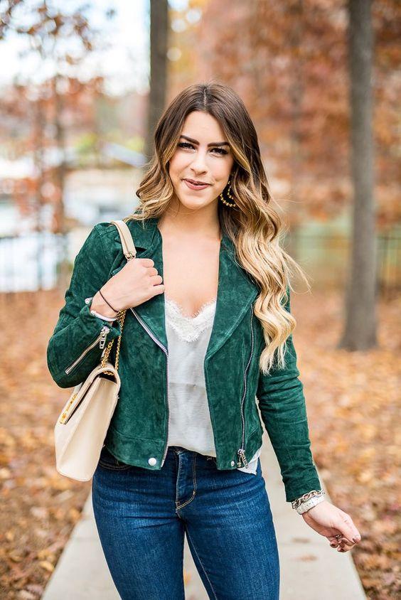 olivgrön jacka skjorta