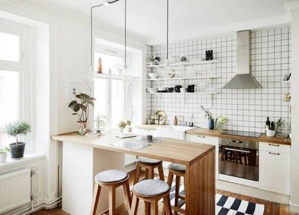 Small Kitchen Island: 22+ enkla idéer för en minimalistisk Ho