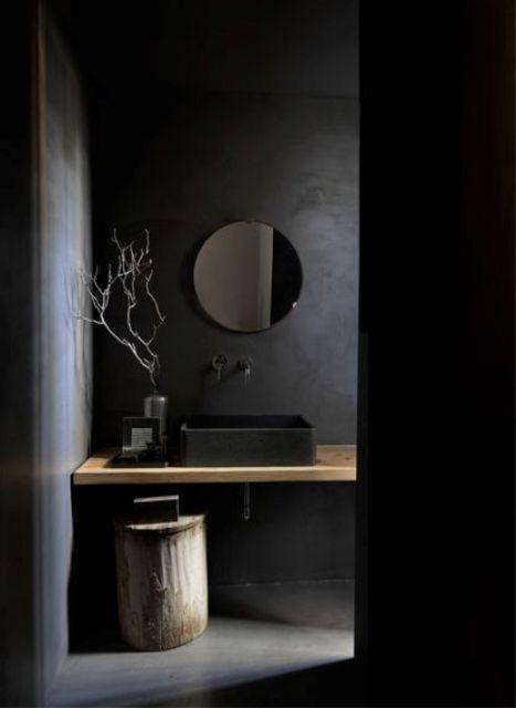 32 Dark Moody badrumsdesigner som imponerar - DigsDi