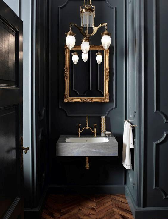 Mörka lynniga badrumsdesigner som imponerar (25)  Badrumstrender.