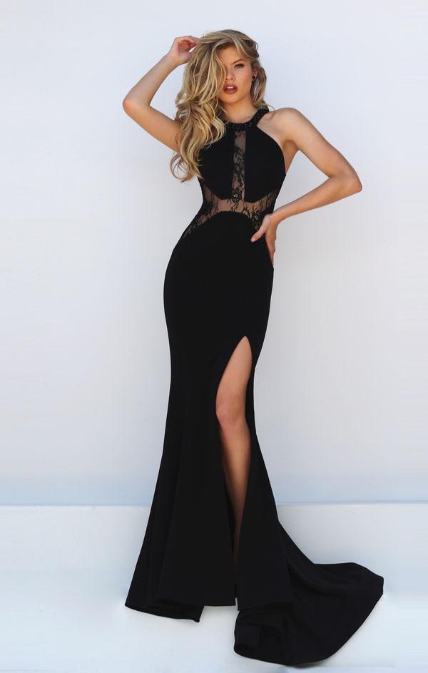 svart grimma klänning maxi