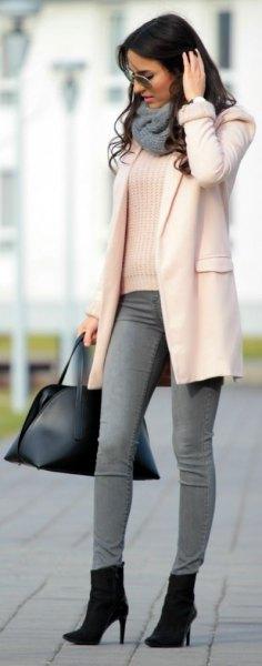 vit ullrock grå skinny jeans