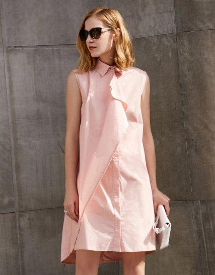 rodna rosa skjortklänning