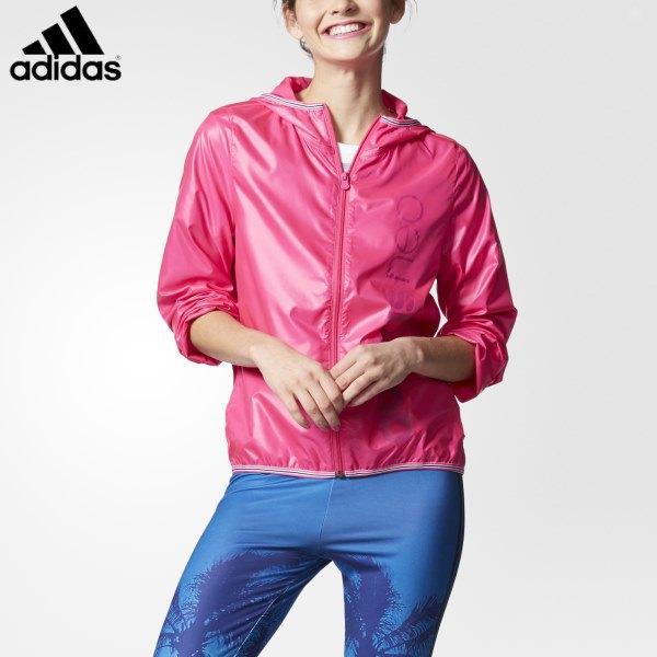 rosa sportjacka med blå vindjacka