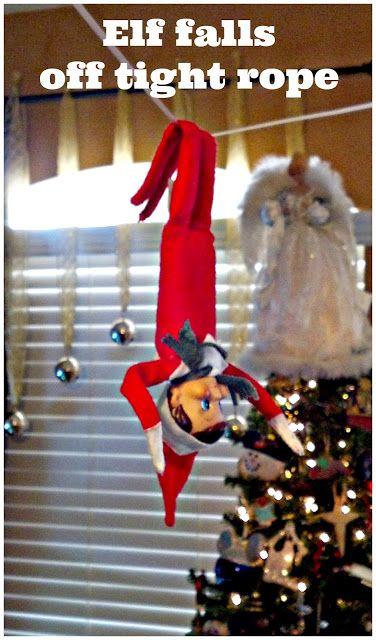 Elf på hyllan: Tight Rope, Zip Line eller Swing    Elf på.