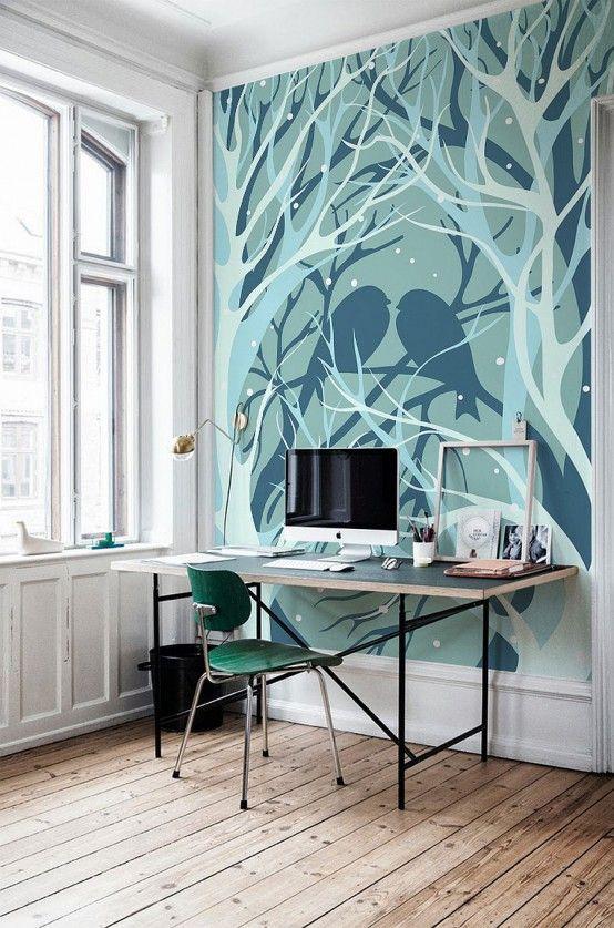 40 fantastiska väggmålningar idéer för olika utrymmen    DigsDigs    Träd.