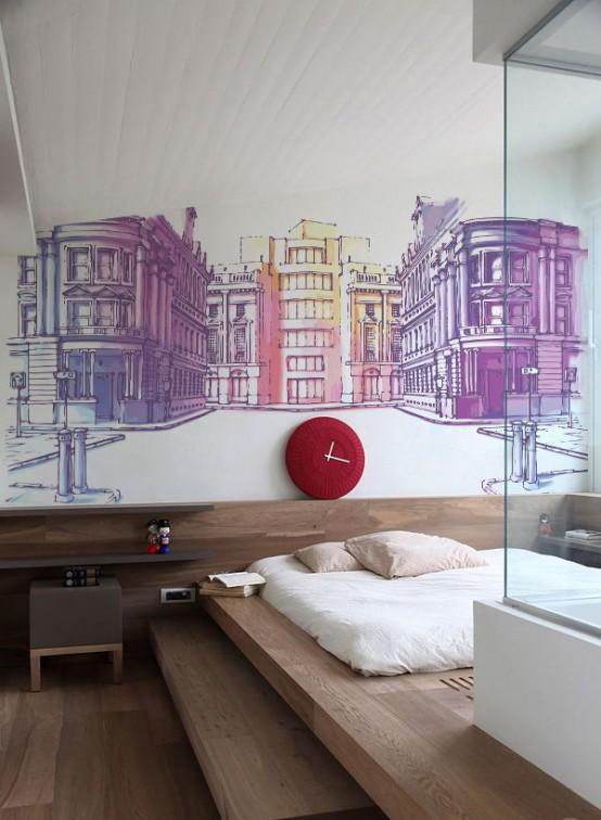 60 fantastiska väggmålningar idéer för olika utrymmen - DigsDi
