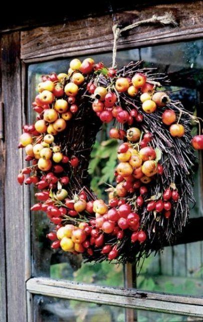 23 söta och smaskiga äpplekranser för hösten Hem Dacor |  DigsDigs.