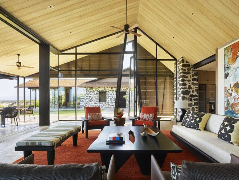 Modernt hawaiiskt hem på ett härdat lavafält - DigsDi