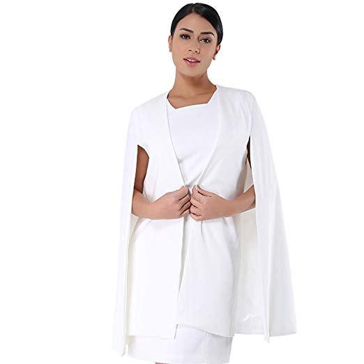 vit mini shift-klänning med kyrkodräktjacka